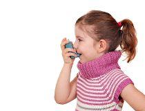 asthma inhaler little girl