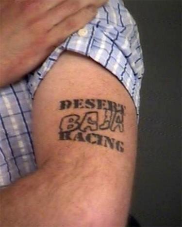 Dellen Millard tattoos pictured in a police handout photo.