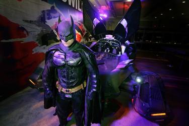 Toronto Batman with the  Batmobile at the Auto Show on Friday February 19, 2016. Craig Robertson/Toronto Sun/Postmedia Network