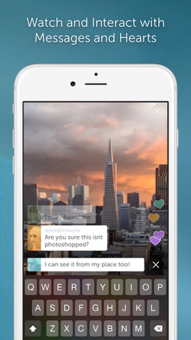 Periscope app. (Screenshot)