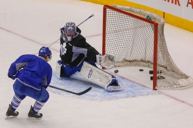 Leafs Arcobello Bernier