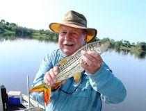 Neil with a Zambezi River tiger fish