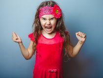 Anger little girl
