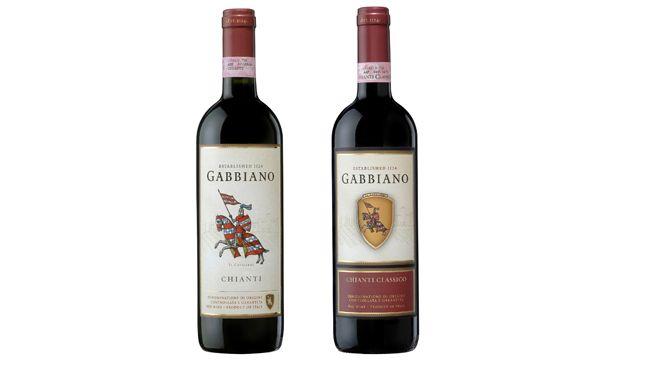(Left) Gabbiano 2014 Chianti Tuscany, Italy and Gabbiano 2013 Chianti Classico Tuscany, Italy.