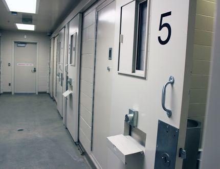 Kingston Police prisoner cells.