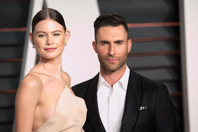 "Adam Levine with his model wife Behati Prinsloo. (<A HREF=""http://www.wenn.com"" TARGET=""newwindow"">WENN.COM</a>)"