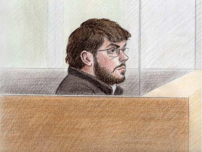 Court sketch of Ismael Habib, 28, of Montreal appearing in court last week. LAUREN FOSTER-MACLEOD / OTTAWA CITIZEN