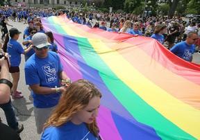 Winnipeg's Pride parade in 2015.