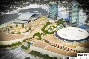 Exterior. Northlands Ice Coliseum in Edmonton. Vision 2020