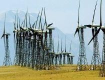 Cowley Ridge wind power turbines