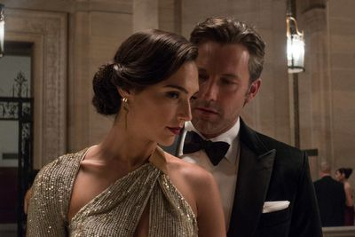 "Gal Gadot as Diana Prince and Ben Affleck as Bruce Wayne in ""Batman v Superman: Dawn of Justice,"" a Warner Bros. Pictures release. (Clay Enos/ Warner Bros.)"