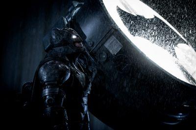 "Ben Affleck's Batman is pictured in a scene from ""Batman v Superman: Dawn of Justice"". (Warner Bros.)"