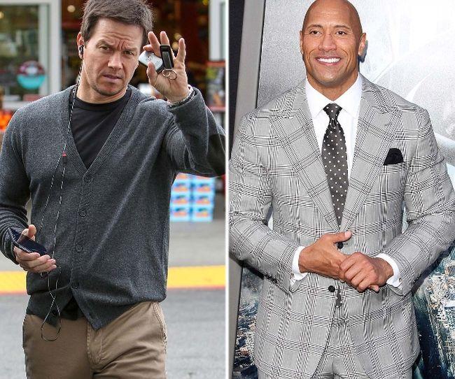 """Mark Wahlberg and Dwayne Johnson. (<A HREF=""""http://www.wenn.com"""" TARGET=""""newwindow"""">WENN.COM</a>)"""
