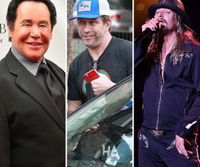 From left: Wayne Newton, Stephen Baldwin and Kid Rock. (WENN.COM)