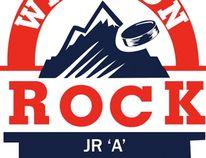 The Wiarton Rock logo.