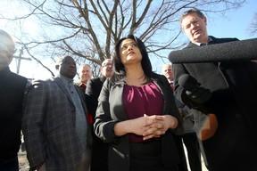 Manitoba Liberal Leader Rana Bokhari was on the campaign trail in Winnipeg March 23, 2016.