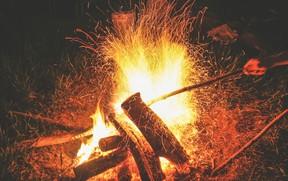 PCE Campfire Camp Gladstone Stock Photo