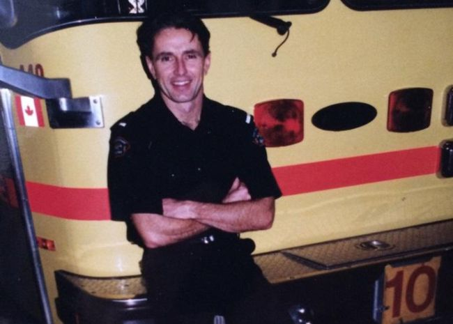 Retired firefighter Bill Hughes
