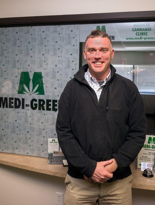 Trevor Hands, the founder of the first medical marijuana centre in Kingston, Medi-Green