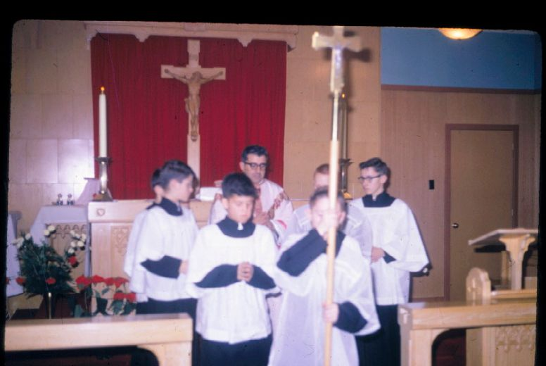 Supplied photo Father John Edward Sullivan celebrates mass in this undated photo.