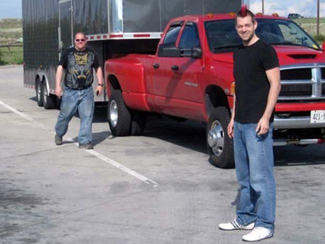 Dellen Millard, right, with Shane Schlatman in the background. (Facebook photo)