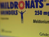 Mildronate (Meldonium) medication is pictured in the pharmacy in Saulkrasti, Latvia, March 9, 2016.