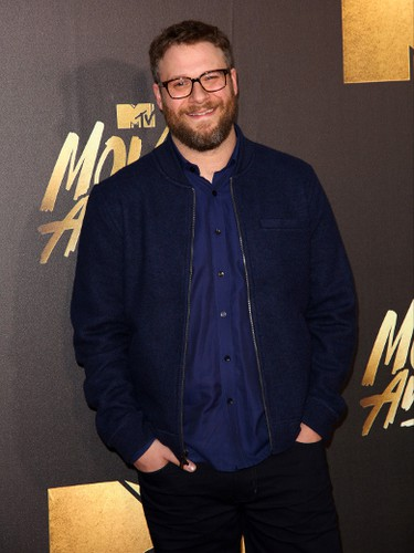 Seth Rogen arrives at the 2016 MTV Movie Awards in Burbank, California April 9, 2016. (Brian To/WENN.COM)