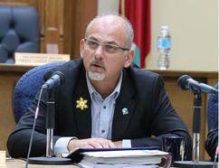 JASON MILLER/The Intelligencer Mayor Taso Christopher at Tuesday's budget talks at city hall.
