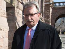 PC MPP Jack MacLaren leaves his Queen's Park office on April 13, 2016. (Craig Robertson/Toronto Sun)