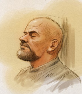 Basil Borutski appeared in Pembroke court on Tuesday, April 19, 2016.