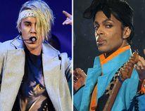 Justin Bieber and Prince (AP/Reuters file photos)