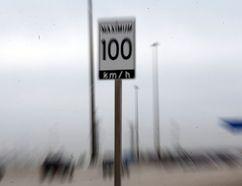 A speed limit sign on Highway 407 on Thursday April 21, 2016. Michael Peake/Toronto Sun/Postmedia Network