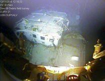 A closeup view of the El Faro navigation bridge is shown on the ocean floor taken by an underwater video camera November 12, 2015. National Transportation Board/Handout via REUTERS