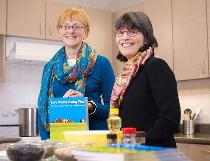University of Alberta professors Catherine Chan and Rhonda Bell were awarded the university's Community Leader award for their Pure Prairie Eating Plan. Richard Siemens.