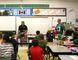 Saskatchewan Roughrider Jorgen Hus visiting the Grade 4 class of teacher Juanita Schwebius at Father Gorman Community School, on Monday, April 25.