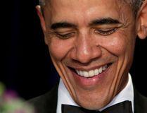 U.S. President Barack Obama attends the White House Correspondents Association's annual dinner in Washington, U.S., April 30, 2016. REUTERS/Yuri Gripas