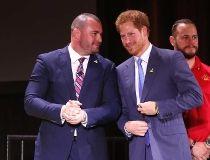 Prince Harry meets Coun. Jody Mitic
