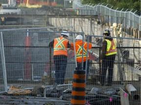 Ongoing construction for Ottawa's LRT.
