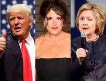 Donald Trump, left, Monica Lewinsky and Hillary Clinton (Postmedia files)