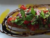 Baby Tomato & Asparagus Bruschetta