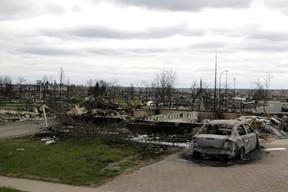Destroyed property in Fort McMurray, Alberta. (AP Photo/Rachel La Corte)