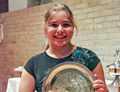 Tatyana Palmer is the winner of the Richard and Virginia Blaha Memorial Scholarship at 2016 Brantford Kiwanis Music Festival. (KARA WILSON/For The Expositor)