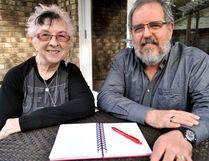 Sharon Lindenburger (left) and Frank Beltrano in London Ont. May 10, 2016. CHRIS MONTANINI\LONDONER\POSTMEDIA NETWORK
