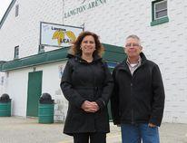 Marleen VanDeWiele - Langton Skating President and Mike Gubesch - Langton & Area Minor Hockey President. (CONTRIBUTED PHOTO)