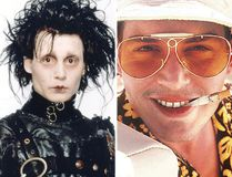 "(L-R) Johnny Depp in ""Edward Scissorhands"" and ""Fear and Loathing in Las Vegas."""