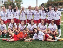 The Bay of Quinte champion Bayside Devils senior girls soccer team.