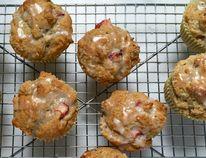 Rhubarb-buttermilk muffins
