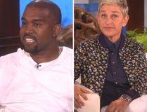 Kanye West and Ellen DeGeneres. (Handout photo)