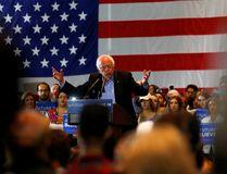 Democratic U.S. presidential candidate Bernie Sanders speaks at a campaign event in Anaheim, California, U.S. May 24, 2016. REUTERS/ Mike Blake