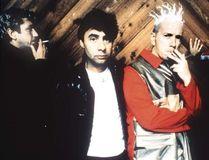 Original Sex Pistols members, from left to right, Steve Jones, Glen Matlock, Johnny Rotten and Paul Cook.